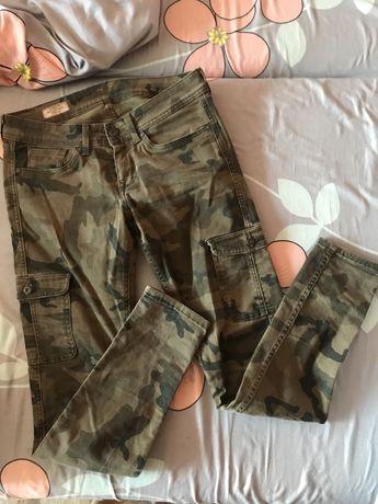 Штани хаки камуфляж 36-38 s розмір джинси жіночі