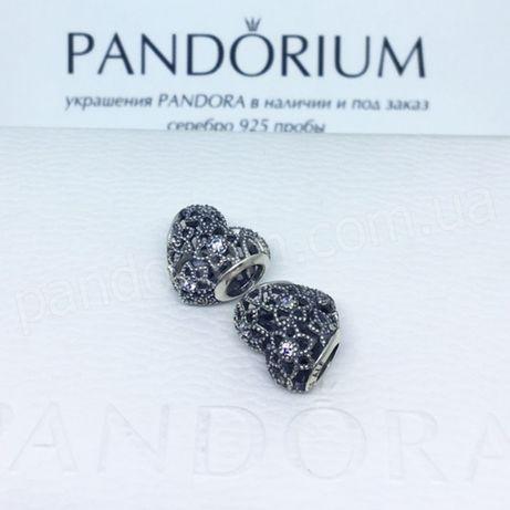 Шарм PANDORA расцветающие сердце в фирменной упаковке!