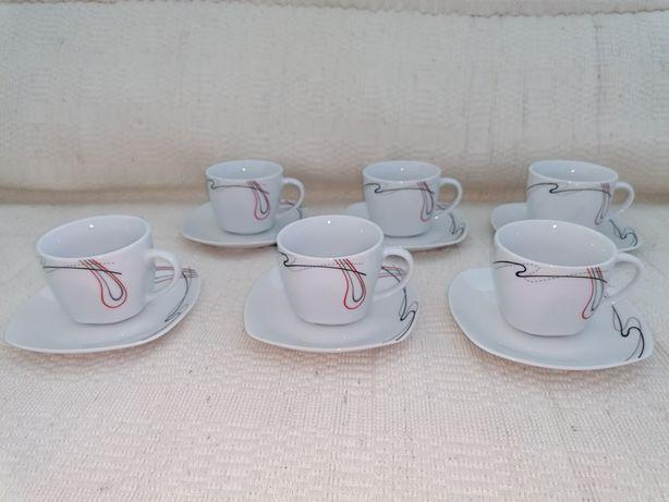 Conjunto de 6 chávenas de chá - NOVAS