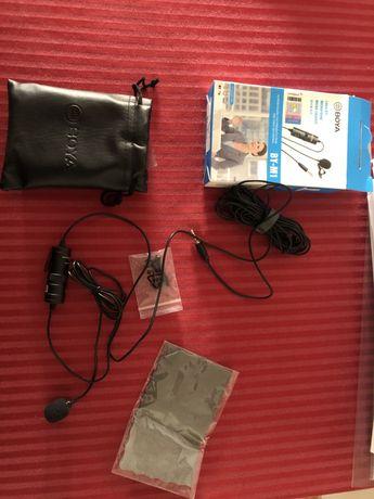 Microfone externo para camara, smartphones, etc NOVO