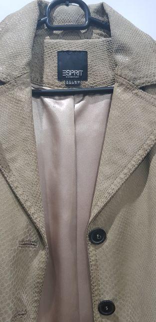 Sprzedam markowy płaszczyk skórzany firmy Esprit