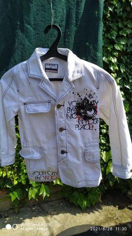 Піджак білий джинсовий