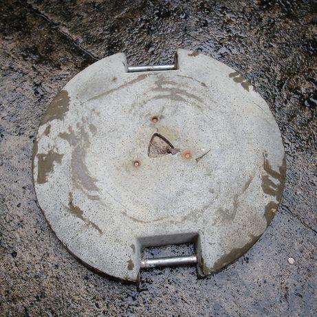 Okrągłe betonowe obciążniki / balasty z uchwytami