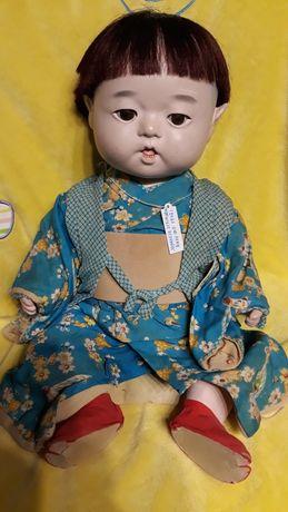 Редкая большая коллекционная винтажная/антикварная японская кукла