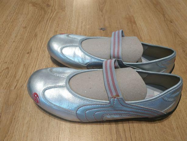 Туфли новые серебристые 39 размер
