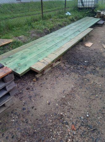 Belki Drewniane 690 cm dł,22cm wys i 6 cm grube.