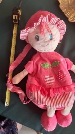Pluszowy plecak dla dziewczynki, różowy