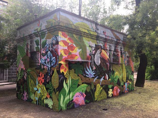 Граффити, художественная роспись стен, логотипы, рисунки на стене