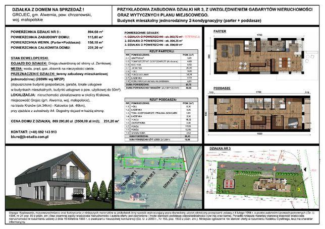 Działka wraz z budową domu na sprzedaż!