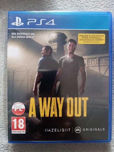 Gra A Way Out ps4 playstation 4 pro ps5 unikat, 2 osoby kooperacja PL
