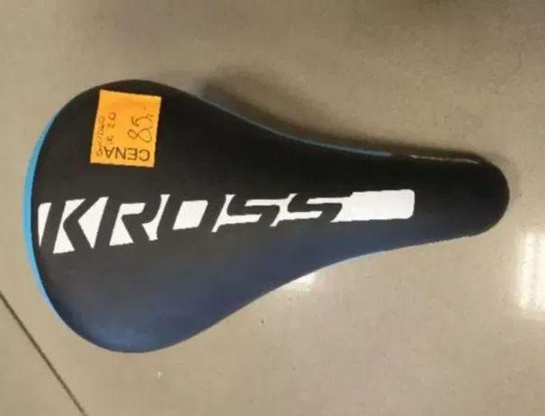 Siodełko rowerowe dziecięce Kross Kid czarno-niebieskie