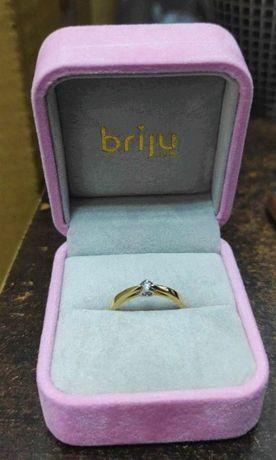 Złoty Pierścionek z Brylantem Certyfikat