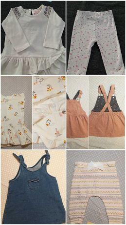 Ubranka dla dziewczynki r.68/74