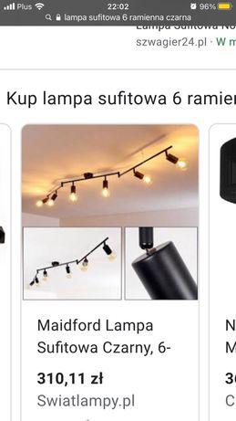 Lampka nocna oraz lampa sufitowa 6 ramienna