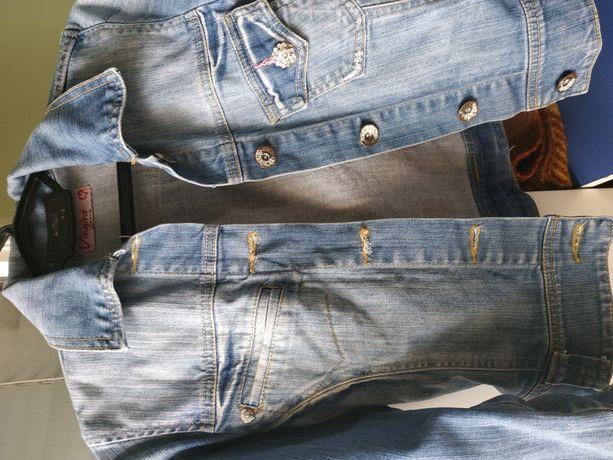 Котоновый пиджак на девочку 10-14 лет