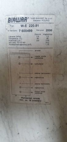Bojler Biawar 220 litrów
