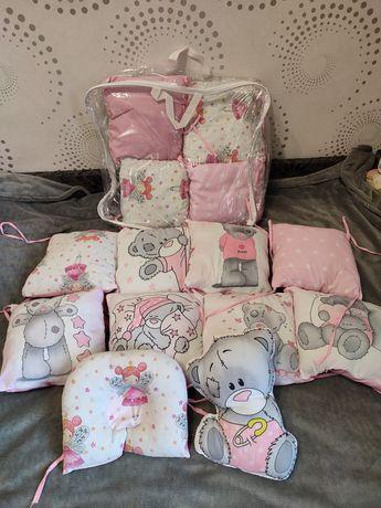 Бортики в кроватку, матрас и детская кроватка