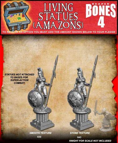 Reaper Miniatures Bones 4 - Living Statue Amazon