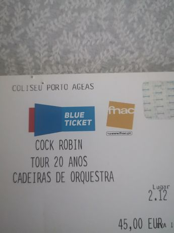 2 bilhetes Cock Robin Porto