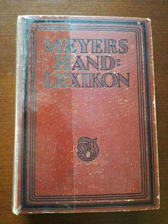 Meyers Hand Lexikon 1920r.