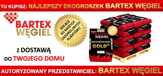 Ekogroszek Bartex 29MJ Polski pellet Trak z Garbatki węgiel wesoła