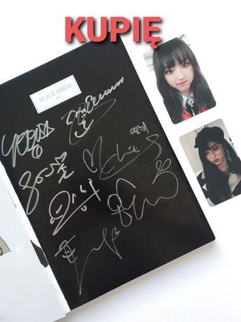 CLC Black dress No 1 autografowane kpop album