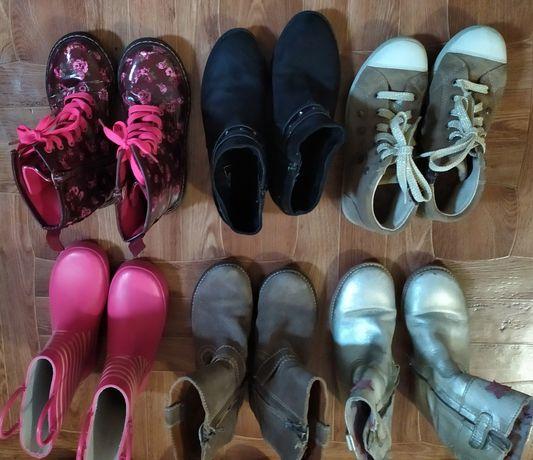 Осеняя обувь на девочку, сапоги, ботинки, резиновые сапоги.