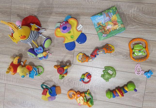 Zestaw zabawek niemowlęcych 12 szt plus zawieszka do smoczka