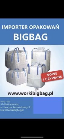 Worki Big Bag Bagi Wklad Folia na kukurydze CCM bigbag 1000kg MOCNE
