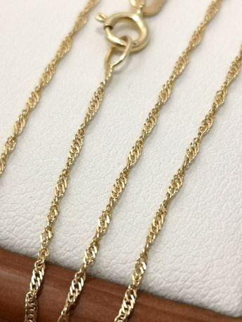 Śliczny delikatny złoty łańcuszek 585 0.69 G