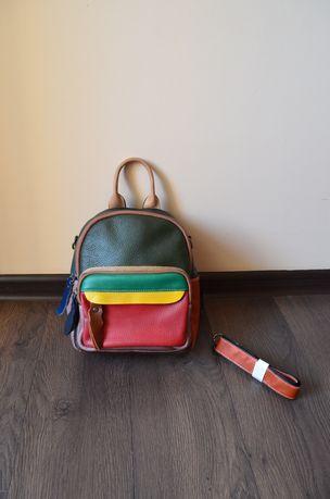Рюкзак из натуральной кожи кожаный богемный стиль рюкзак сумка 2 в 1