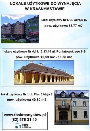 Lokale usługowe/użytkowe na wynajem.