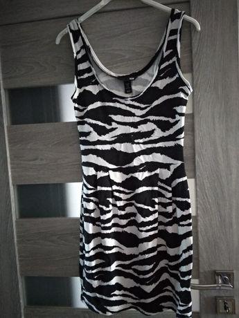 Czarno biała sukienka 36/38 H&M