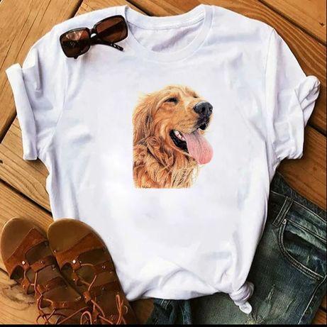 Koszulka bluzka t-shirt pies Golden Retriever S-XXL