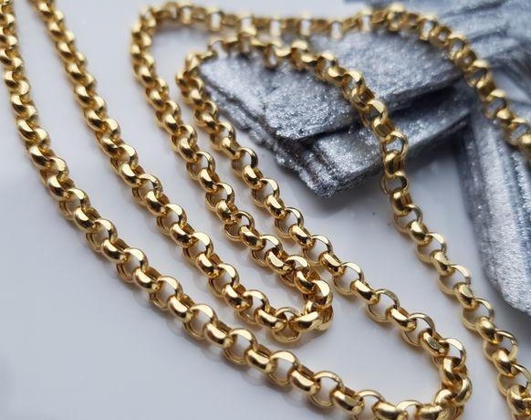 PRZEPIĘKNY złoty łańcuszek pr. 585 ! Kółeczka