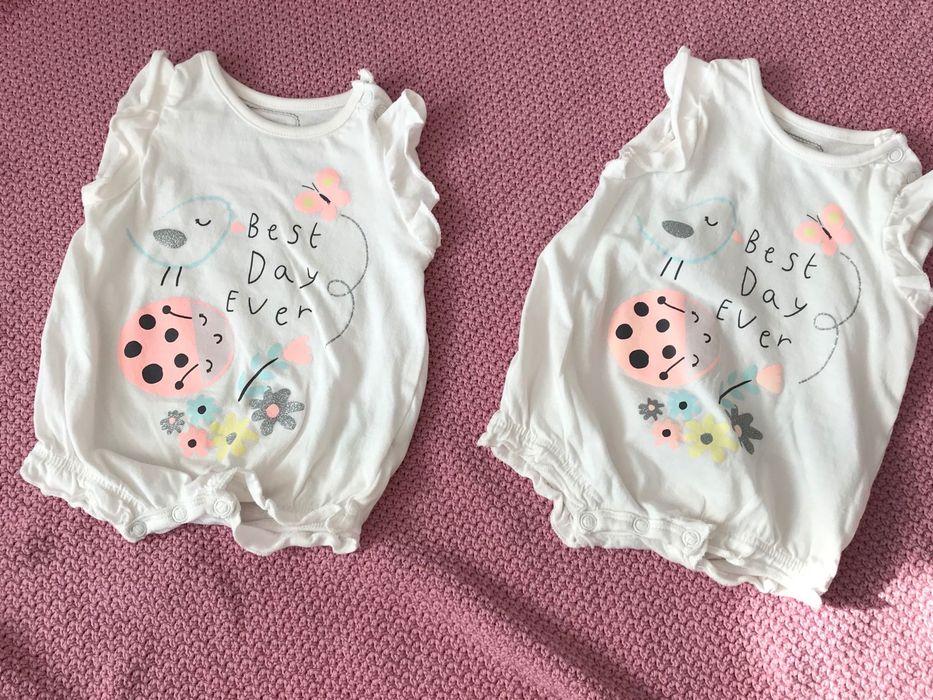 Ubranka dla bliźniaczek, rozmiar 62, 10 szt. Jelenia Góra - image 1