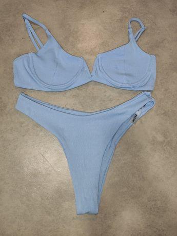 Niebieski błękitny strój kąpielowy Shein