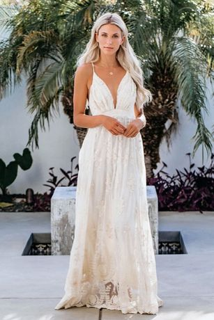 suknia ślubna lato plaża BOHO koronka S 36, M 38, L 40