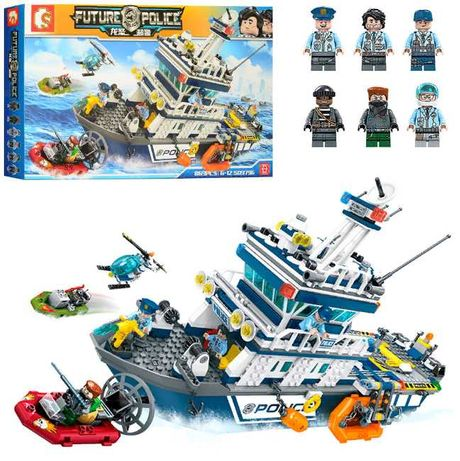 Конструктор SD9796 Морская полиция аналог Lego City 869 дет