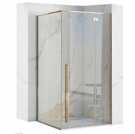 KABINA prysznicowa ZŁOTA Gold NAROŻNA FARGO 90x90