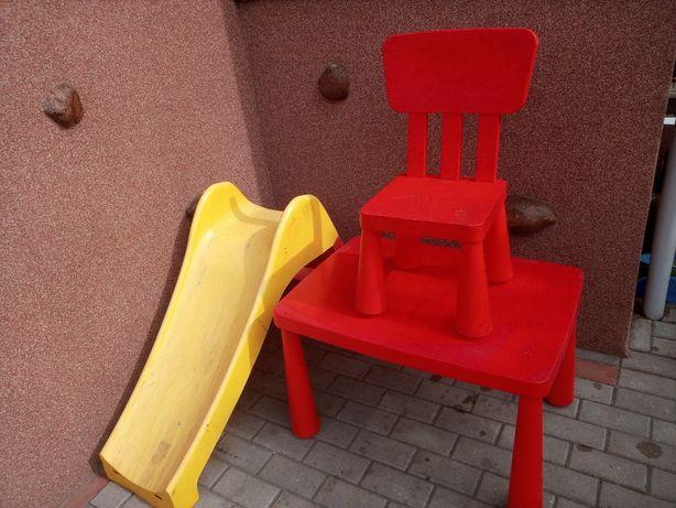 Zjeżdżalnia+stolik+krzesło