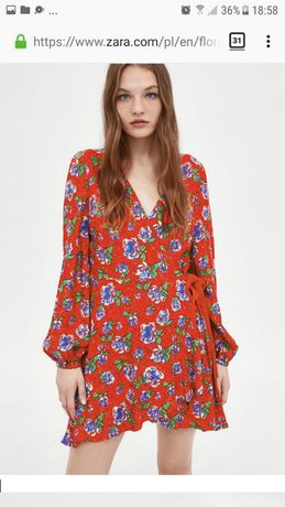 Платье - комбинезон на запах Zara