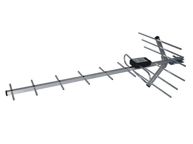 Эфирная антенна AT-16H с усилителем и блоком питания и Т2 тюнером.