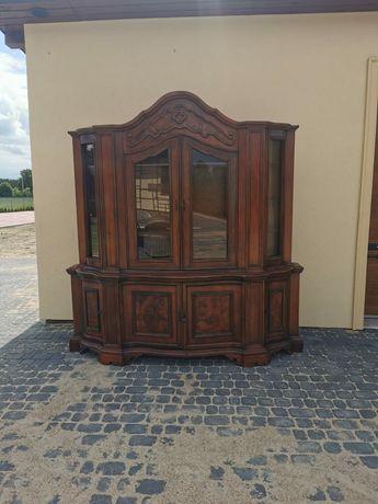 Duża witryna z litego drewna
