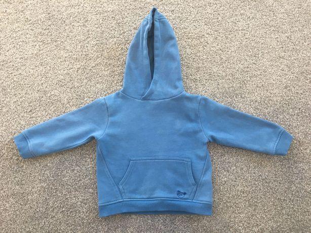 Bluza ZARA 92 niebieska błękitna kaptur kangur