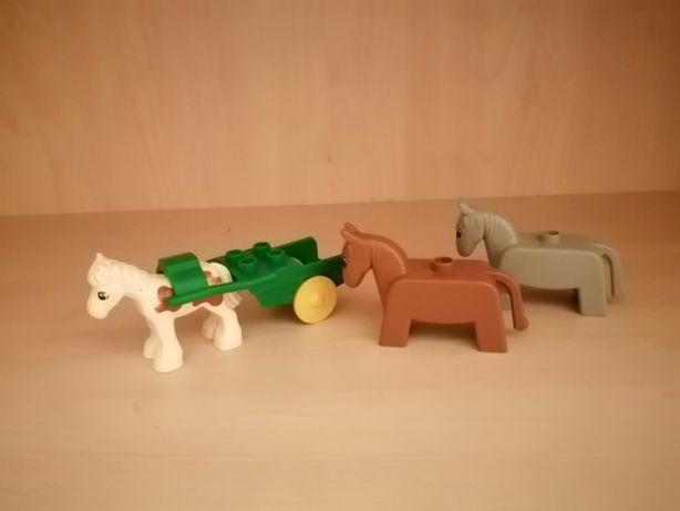 Lego Duplo konie z wozem