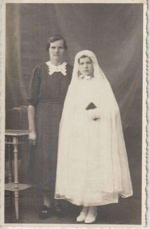 Stare zdjęcia fotografie Wrocław komunia lata 30-ste