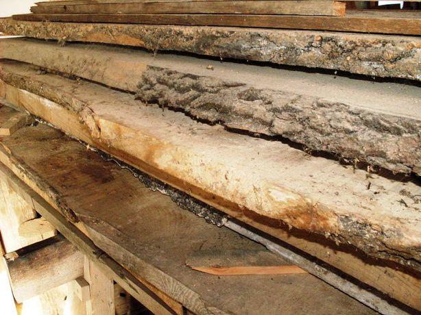 Sprzedam jesion suchy dł 2-3m gr 5-7cm szer 25-50cm  schody stół meble