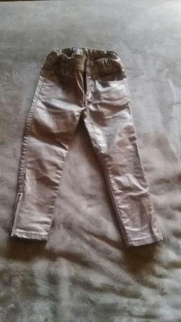 Spodnie woskowane dla dziewczynki