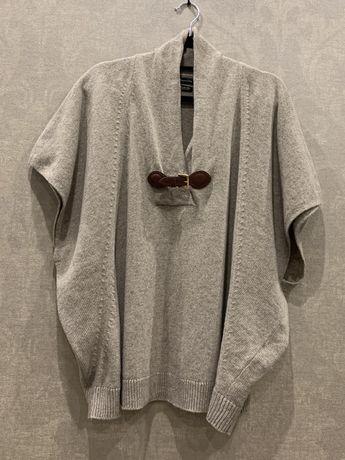 Стильное пончо кейп свитер бренда Massimo Dutti. Размер S-L.